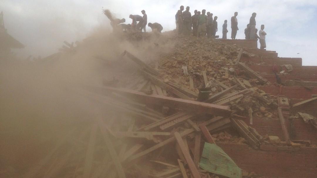 Foto: El 25 de abril, dos terremotos de entre 7 y 8 grados a Nepal. 25 de abril 2014