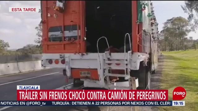 Foto: Tráiler Contra Camión Peregrinos Tlaxcala 11 Diciembre 2019