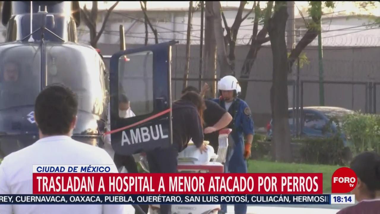 FOTO: Trasladan Hospital Madre Hijo Atacados Por Perros Pitbull