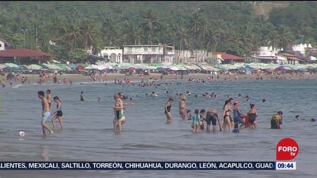 turismo disfruta de las playas de colima