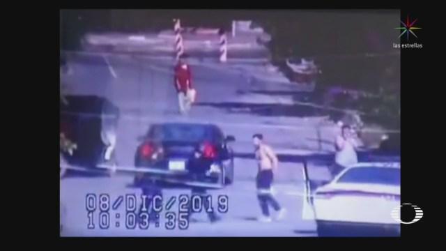 Foto: Video Momento Policía Abate Agresor Tláhuac 9 Diciembre 2019
