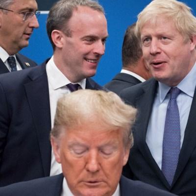 FOTO Video anónimo muestra como líderes se burlan de Trump