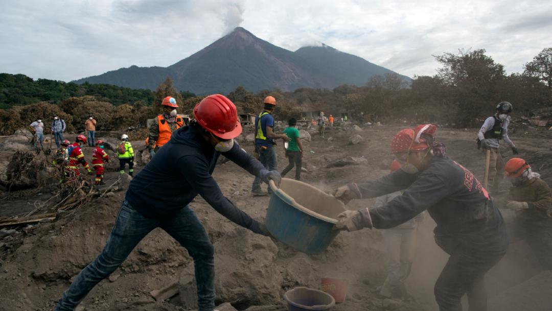 En junio del 2018, el volcán de Fuego en Guatemala registró una violenta erupción