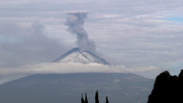 Foto: Volcán Popocatépetl, 22 diciembre 2019