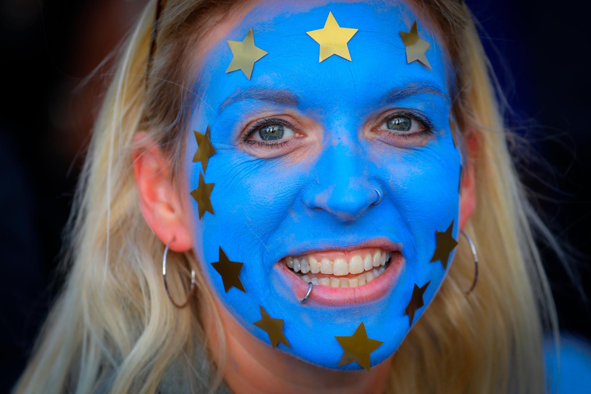 Foto: Los proeuropeos también salieron a la calle, 31 de enero de 2020, (AP)