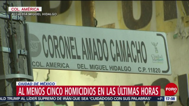 FOTO: 18 enero 2020, al menos cinco muertos en noche y madrugada violenta en la cdmx