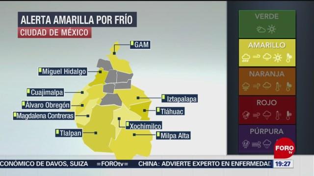 Foto: Frio Alerta Amarilla Cdmx Heladas Hoy 20 Enero 2020
