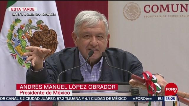 FOTO: 19 enero 2020, amlo anuncia programa sembrando vida en oaxaca
