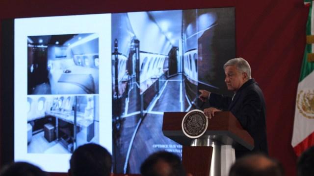 FOTO AMLO anuncia subasta de 28 aeronaves de gobiernos anteriores (Cuartoscuro/Andrea Murcia)