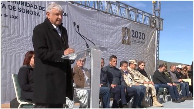 Foto: AMLO promete justicia para la familia LeBarón, 12 de enero de 2020 (Presidencia)