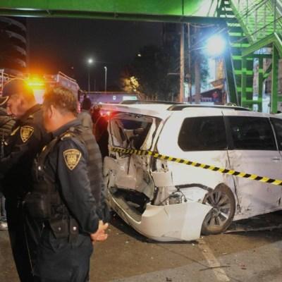 Arrancones al sur de la CDMX terminan en accidente; tres lesionados