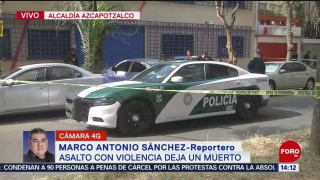 FOTO: asalto con violencia deja un muerto en azcapotzalco