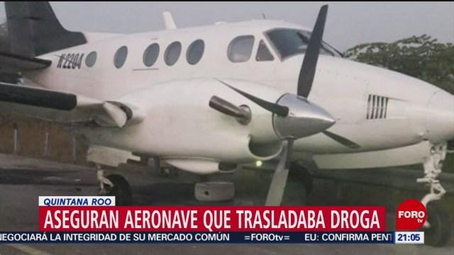 Foto: Avioneta Trasladaba Droga Quintana Roo Asegurada 27 Enero 2020