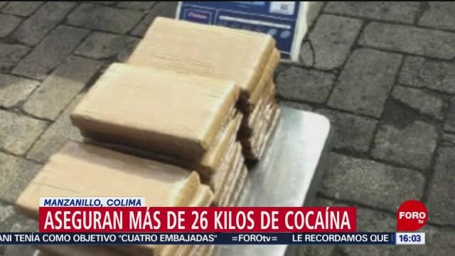 FOTO: 12 enero 2020, aseguran casi 27 kilos de clorhidrato de cocaina en colima