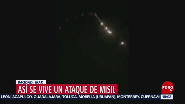 FOTO: asi fue el ataque con misiles a las bases aereas estadounidenses en irak