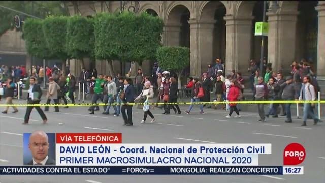 FOTO: asi fue el macrosimulacro de este 20 de enero en mexico