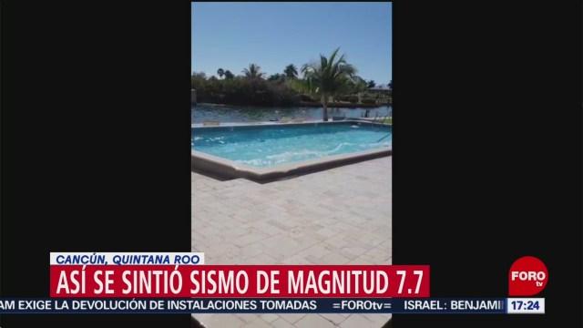 FOTO: asi se sintio en cancun el sismo con epicentro en el caribe