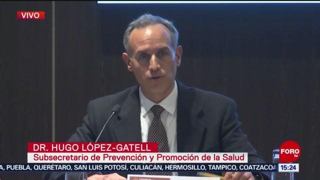 FOTO: autoridades de salud ofrecen conferencia sobre coronavirus en mexico