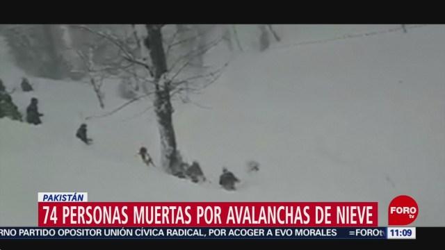 avalanchas de nieve deja mas de 70 personas muertas en pakistan