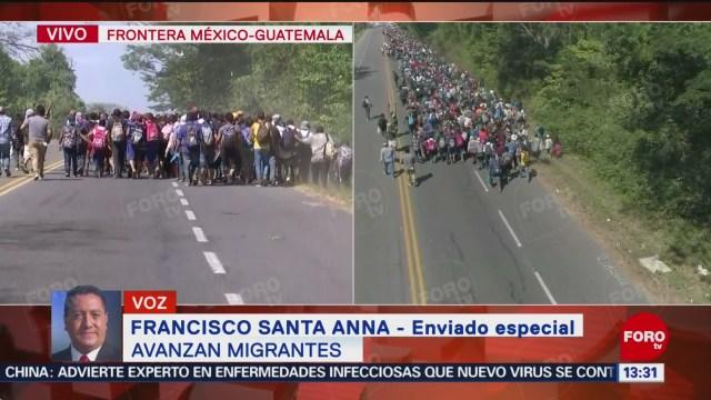 FOTO: avanza caravana migrante en territorio mexicano