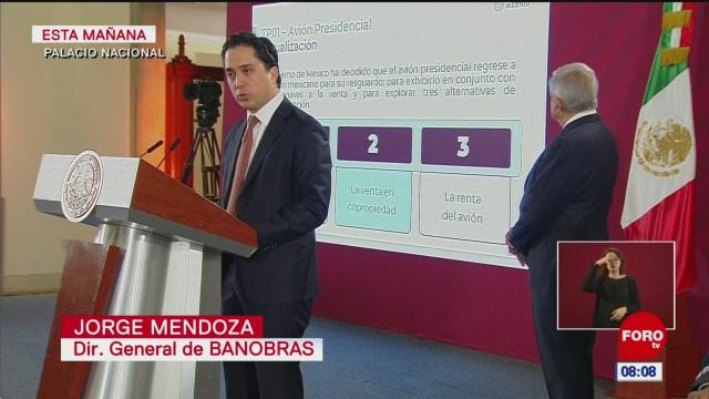 avion presidencial regresa a mexico anuncia gobierno de mexico