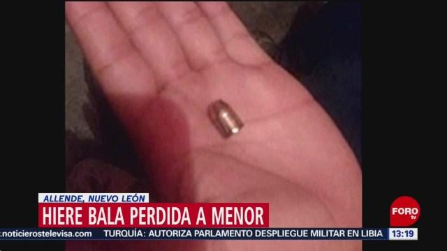 FOTO: bala perdida lesiona a un menor en nuevo leon