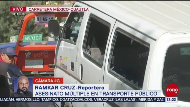 FOTO: balean a conductor y pasajeros en la carretera mexico cuautla