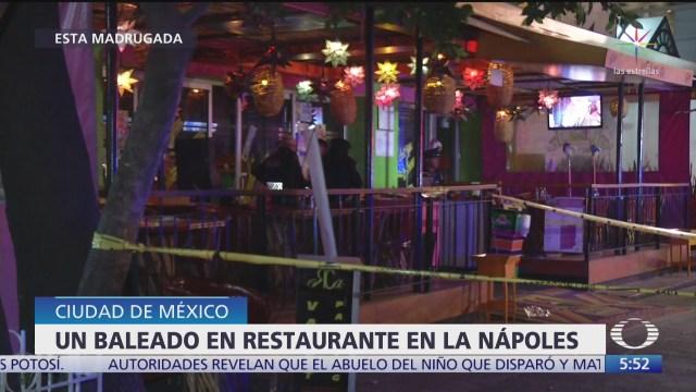 balean a hombre dentro de restaurante en la napoles en cdmx