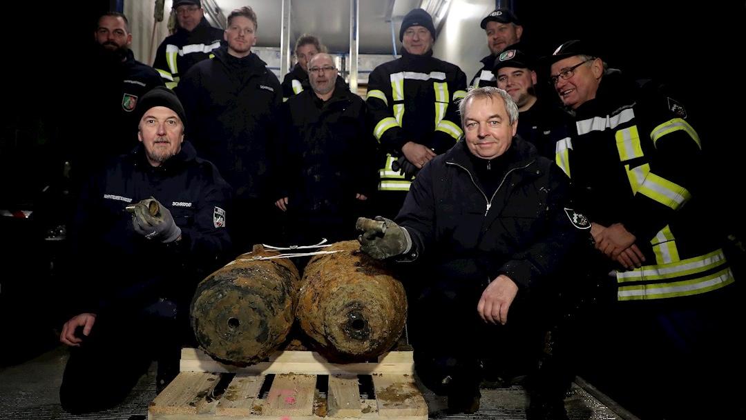 Foto: Las bombas pesaban 250 kilogramos y eran de fabricación estadounidense y británica.