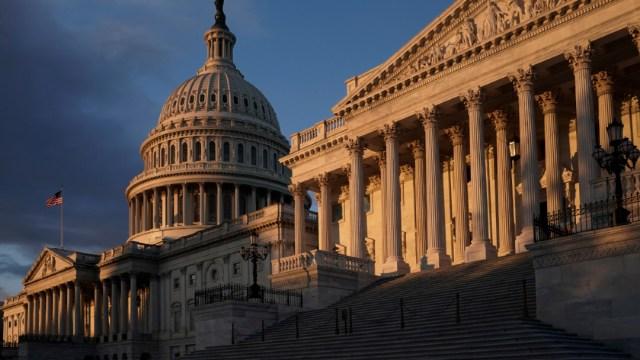 Fotografía que muestra el Capitolio de EEUU, edificio que alberga las dos cámaras del Congreso, 25 enero 2020
