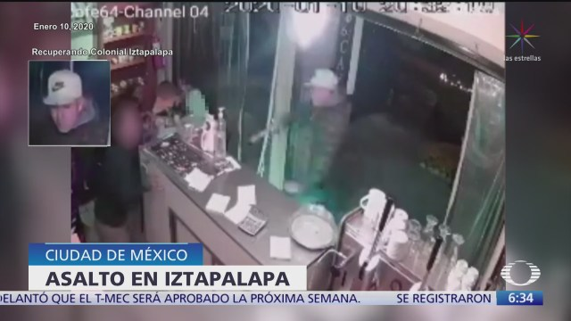 captan asalto a una cafeteria en la alcaldia iztapalapa