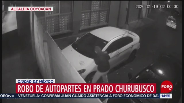 FOTO: captan robo de autopartes en churubusco