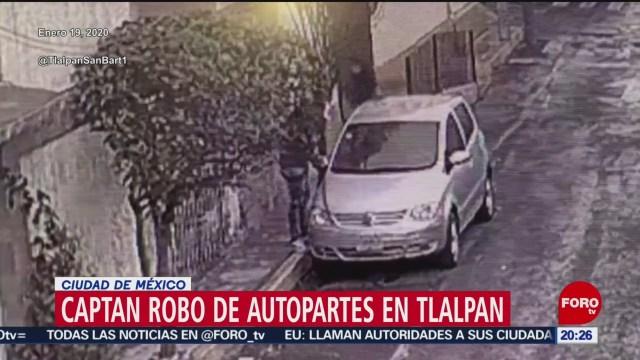 Foto: Video Robo Autopartes Tlalpan CDMX 27 Enero 2020