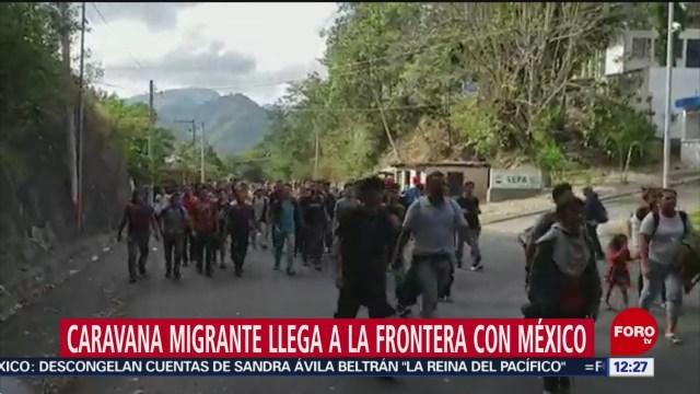 caravana migrante avanza hacia mexico