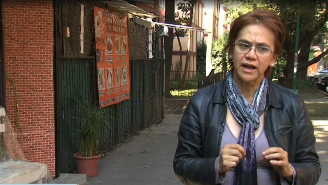 Foto: Carla, víctima de intentos de despojo en la CDMX. (Noticieros Televisa)