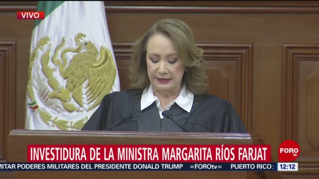 celebran en scjn investidura de la ministra margarita rios farjat