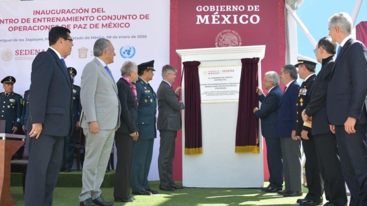 Foto: AMLO inaugura Centro de Entrenamiento Conjunto de Operaciones de Paz.