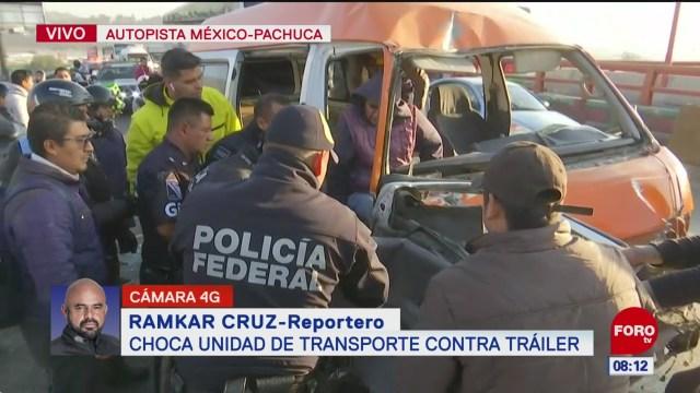 choca unidad de transportes contra trailer