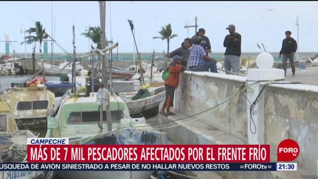 FOTO: 4 enero 2020, cierran puertos por fuertes vientos en campeche