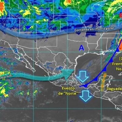 Frente Frío 30 mantiene lluvias y bajas temperaturas