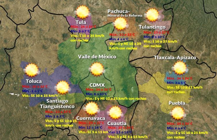 Foto: Pronóstico meteorológico para este sábado 12 de enero