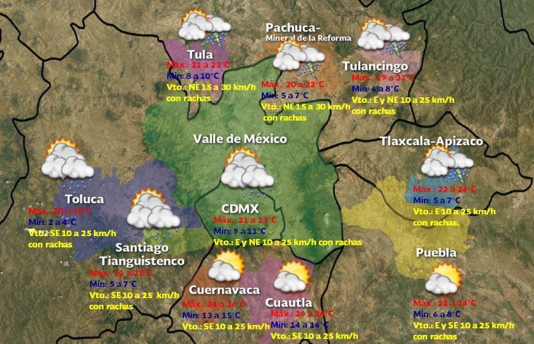 Foto: Pronóstico meteorológico para este sábado 20 de enero