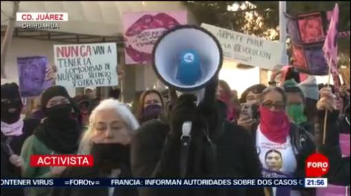 FOTO: 25 enero 2020, colectivos feministas protestan en ciudad juarez chihuahua