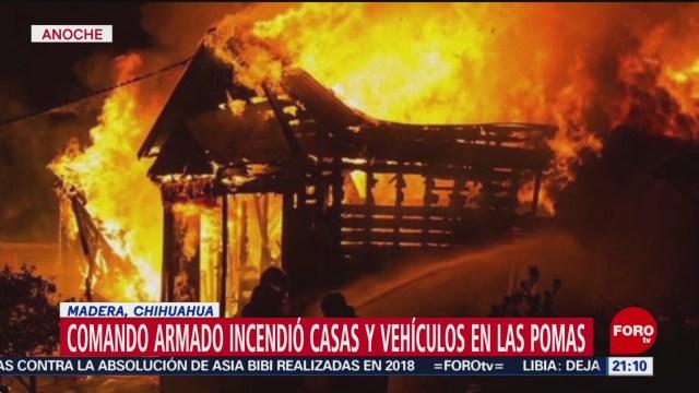 Foto: Comando Incendia Casas Las Pomas Chihuahua 17 Enero 2020