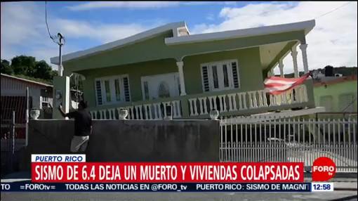 confirman un muerto tras sismo del 7 de enero en puerto rico