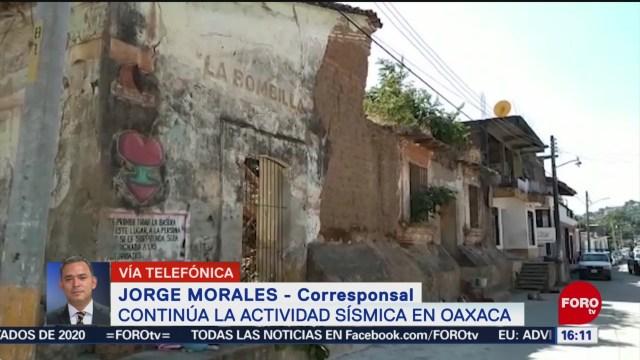 FOTO: 19 enero 2020, continua actividad sismica en el estado de oaxaca