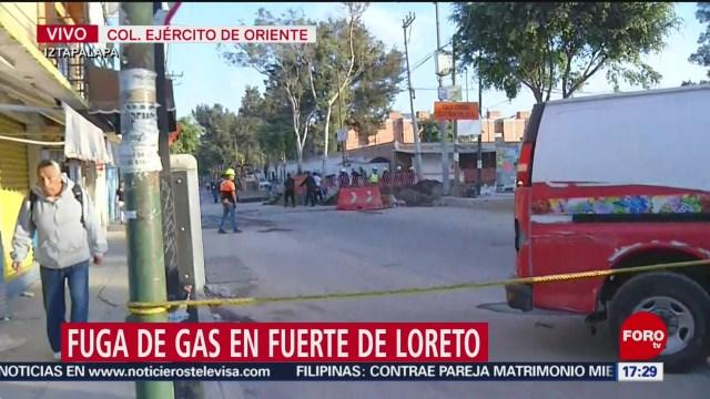 FOTO: controlan fuga de gas en alcaldia iztapalapa