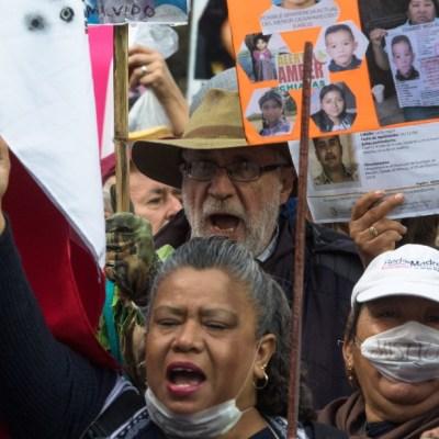 Foto: Olga Sánchez Cordero se reúne con activistas de la Caminata por la Paz, 18 de enero de 2020, (Cuartoscuro)