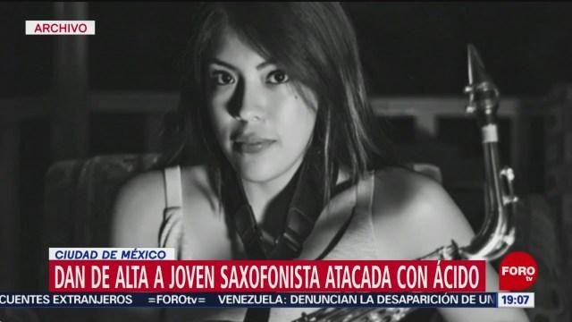 Foto: Saxofonista Oaxaqueña Atacada Ácido Dada Alta 21 Enero 2020