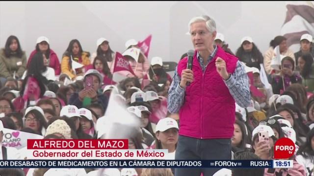 FOTO: del mazo destaca beneficios del programa salario rosa